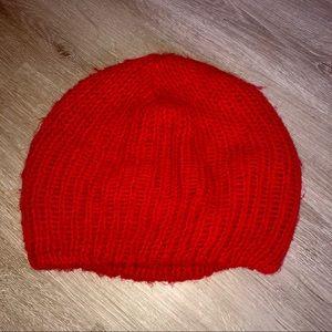 Red Beanie Winter Hat